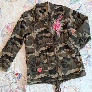 NWOT Upcycled Camo Army Jacket